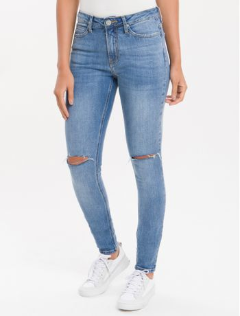 Calca-Jeans-Five-Pockets-Ckj-001-Super-Skinny---Azul-Claro