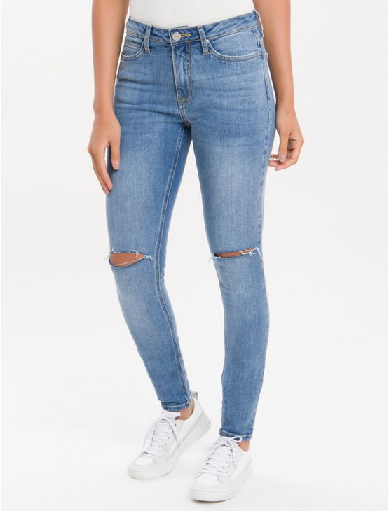 Calca-Jeans-Five-Pockets-Ckj-001-Super-Skinny---Azul-Claro