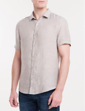 Camisa-Mg-Curta-Regular-Cannes-Linen---Caqui-Claro