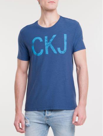 Camiseta-Ckj-Mc-Est-Ckj---Azul-Escuro