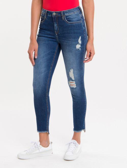 Calça Jeans Five Pockets Ckj 001 Super Skinny - Marinho