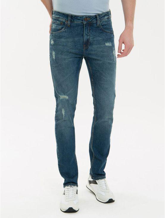 Calca-Jeans-Five-Pockets--Slim---Marinho