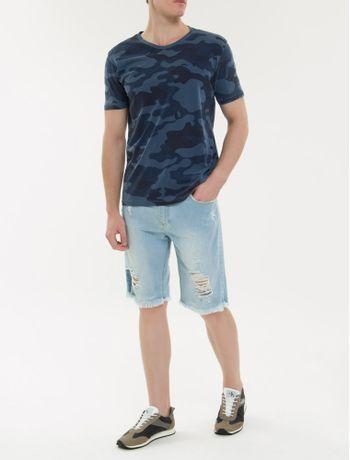 Camiseta-Ckj-Mc-Camuflada---Azul-Marinho