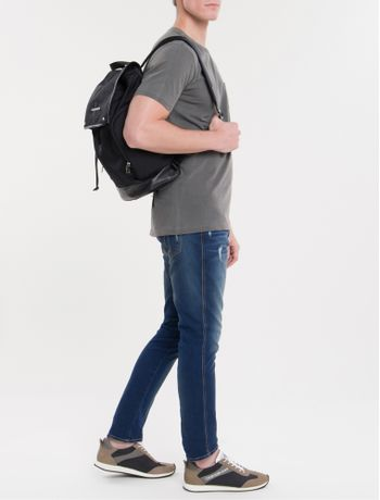 Mochila-Ckj-Masc-Mono-Flap-Backpack-45---Preto