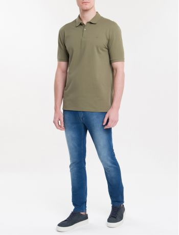 Polo-Regular-Basica-Lisa---Militar