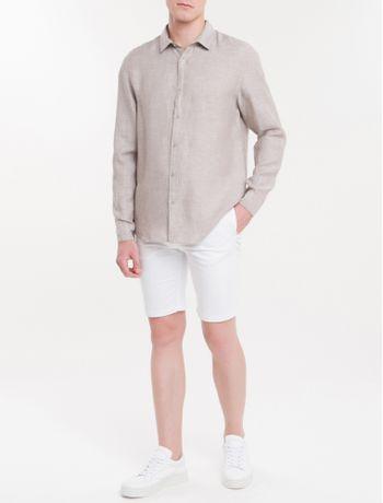 Camisa-Regular-Cannes-Linen---Caqui-Claro