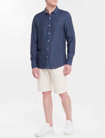 Camisa-Regular-Cannes-Linen---Azul-Marinho
