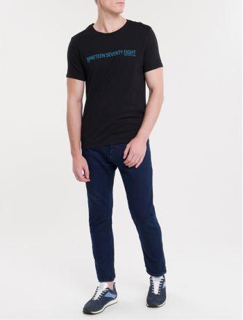 Camiseta-Ckj-Mc-Est-Nineteen---Preto