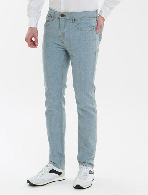 Calça Jeans Five Pockets Slim - Azul Claro