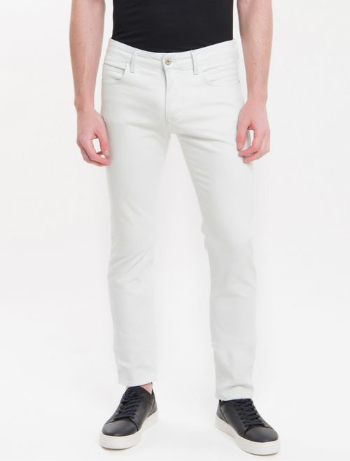 Calça Jeans Five Pockets Skinny - Off White