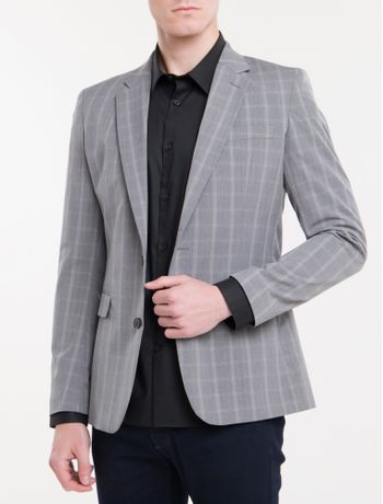 Blazer-Slim-Pv-Check---Grafite-