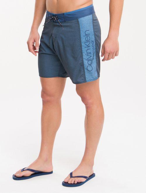 Bermuda Dagua Ckj Est Textura E Recortes - Azul Claro