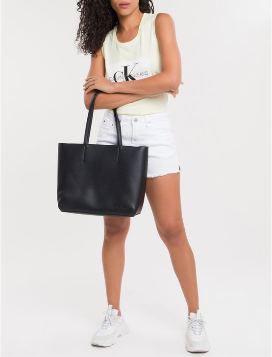Bolsa-Tote-Ckj-Fem-Zipper-Ultra-Light---Preto-