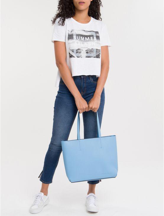 Bolsa-Tote-Ckj-Fem-Zipper-Ultra-Light---Azul-Medio-