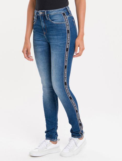 Calça Jeans Five Pockets High R Skinny - Marinho