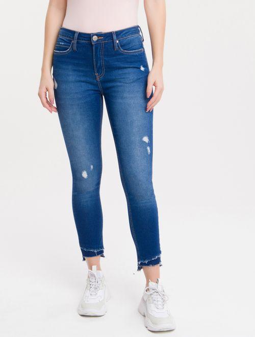 Calça Jeans Five Pockets Super Skinny - Azul Royal