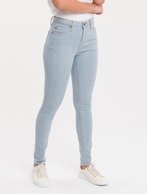 Calça Jeans Five Pockets Super Skinny - Azul Claro