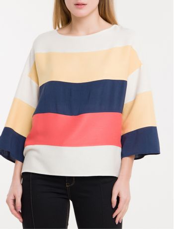 Blusa-Manga-Curta-Color-Block-Ck---Off-White-