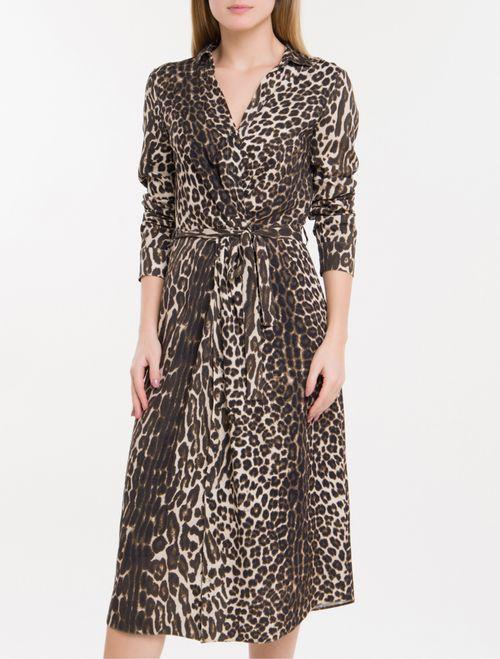 Vestido Leopardo Calvin Klein - Camurça