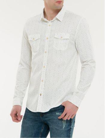 Camisa-Ml-Ckj-Masc-Microprint-Calvin-Com---Branco-2-