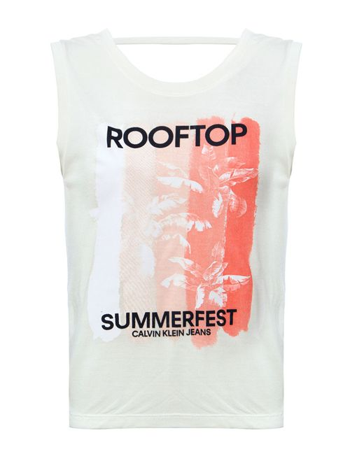 Blusa Sm Ckj Rooftop - Off White