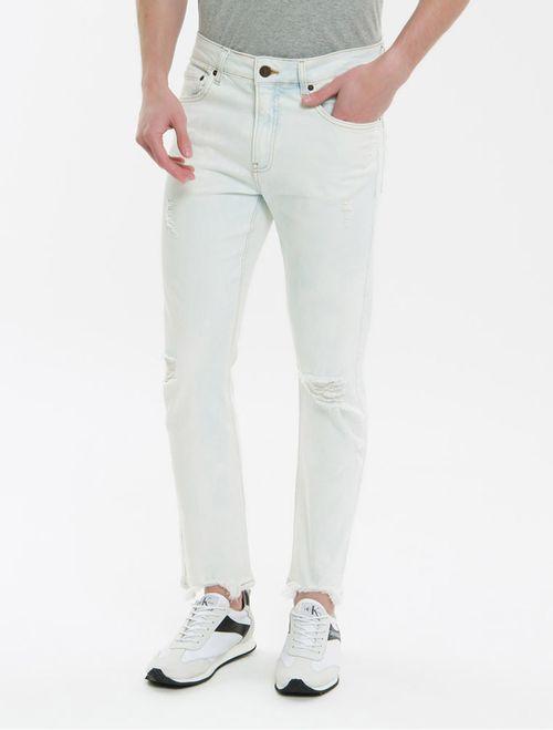 Calça Jeans Five Pockets Slim - Off White