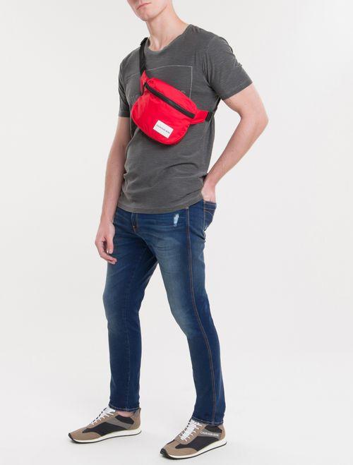 Pochete Ckj Masc Quadrada Logo - Vermelho