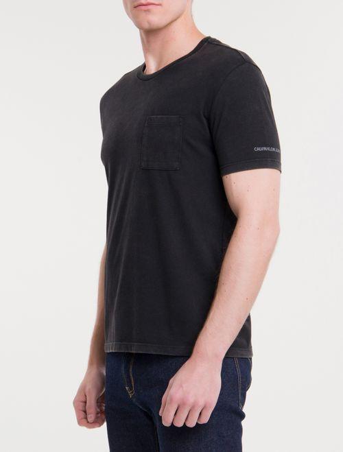 Camiseta Ckj Mc Sustainable Bolso - Preto
