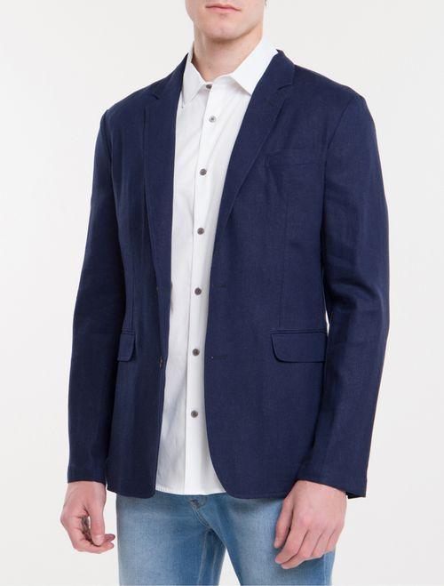Blazer Regular Linen - Marinho