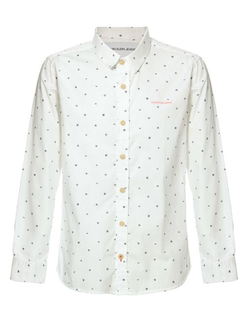 Camisa Ml Ckj Estampa Geometric Com Silk - Branco 2