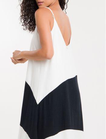Vestido-Color-Block-Calvin-Klein---Preto-