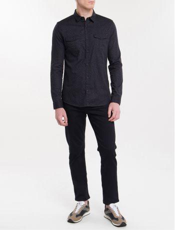 Camisa-Ml-Ckj-Masc-Microprint-Calvin-Com---Preto-