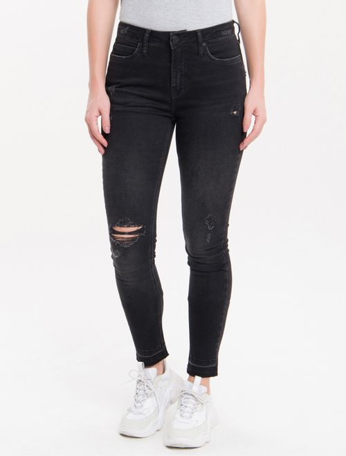 Calça Jeans Five Pockets Super Skinny - Preto