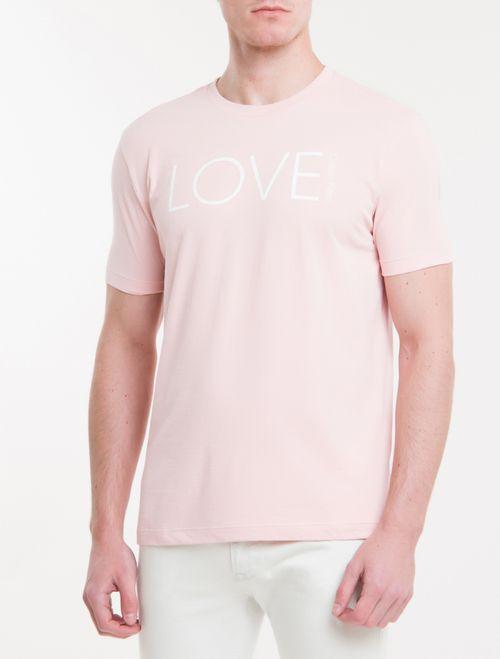 Camiseta Regular New Year Love - Rosa Claro