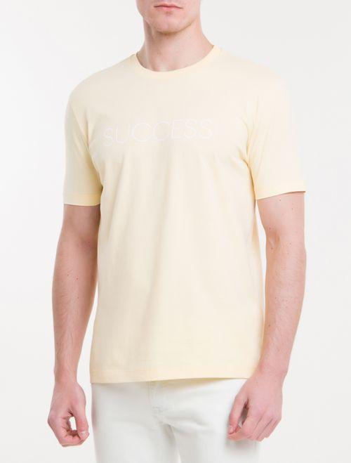 Camiseta Regular New Year Success - Amarelo Claro