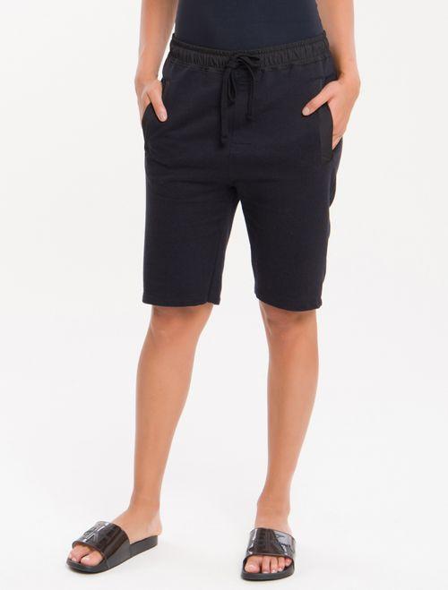 Bermuda Moletom Ck Black Loungewear - Preto