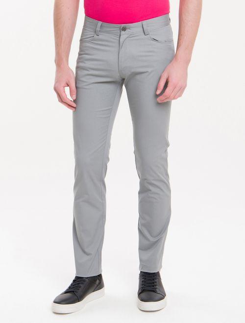 Calça Masculina Color 5 Pockets Cinza Médio