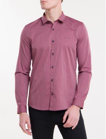 Camisa-Ml-Ckj-Masc-Listrada-Silk-Logo---Bordo
