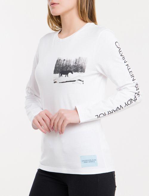 Blusa Ckj Fem Ml Andy Warhol Landscape - Branco 2