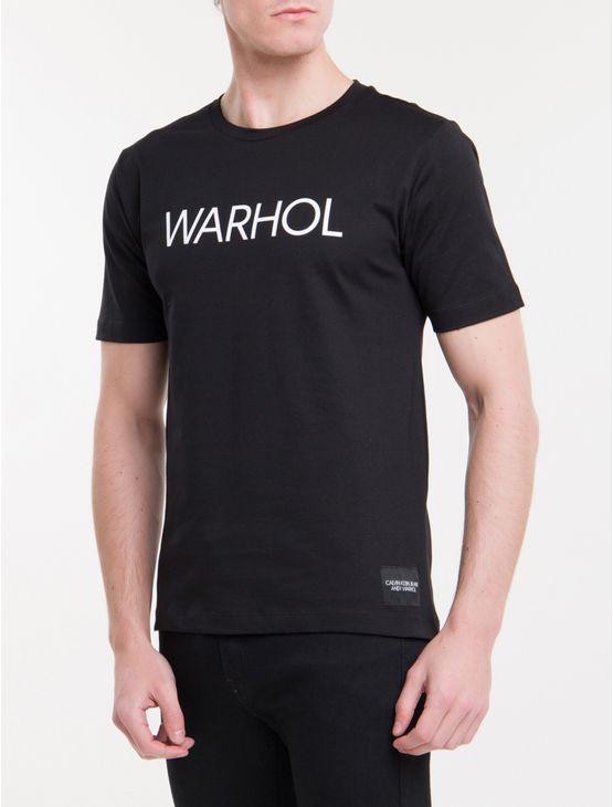T-Shirt-Ckj-Masc-Mc-Andy-Warhol-Logo---Preto