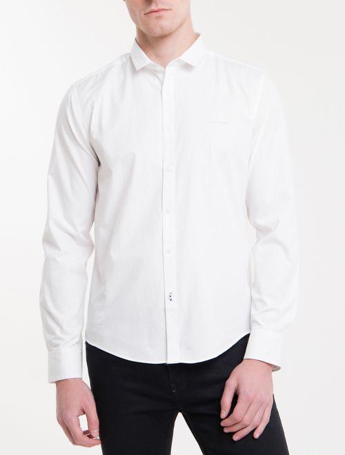 Camisa Ml Masc Regular Basica - Branco