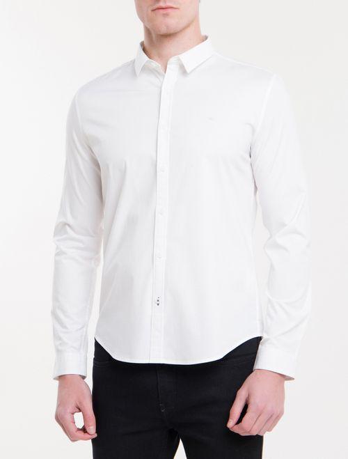 Camisa Ml Masc Slim Básica - Branco 2