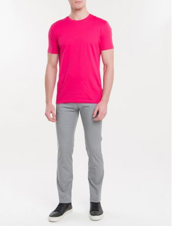 Calca-Masculina-Color-5-Pockets-Cinza-Medio