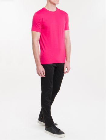 Camiseta-Slim-Careca-Flame-Calvin-Klein---Rosa-Escuro