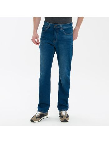 Calca-Jeans-Five-Pockets-Ckj-037-Relaxed-Straight---Azul-Medio
