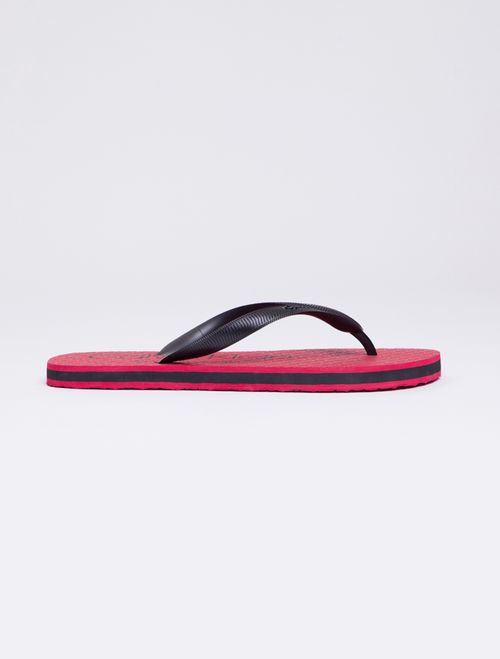 Chinelo Ckj Est Masc Logo Swimwear - Vermelho