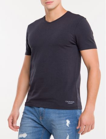 Kit-2-Camisetas-De-Cotton-Gola-V---Preto-