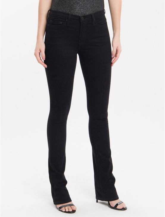 Calca-Color-Five-Pockets-Kick-Flare---Preto-