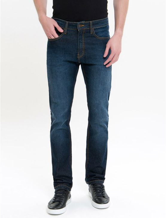 Calca-Jeans-Five-Pockets-Slim-Straight---Marinho-