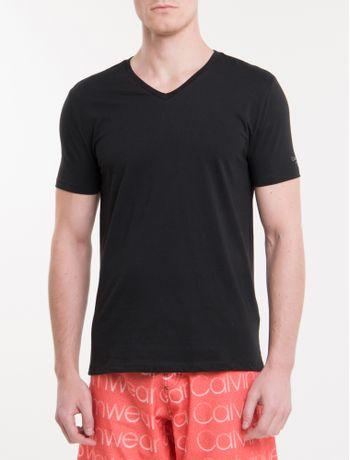 Camiseta-Ck-Swim-Mc-Gola-V-Silk-Manga---Preto-